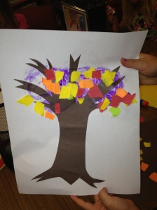 Torn Paper Tree by Olivia