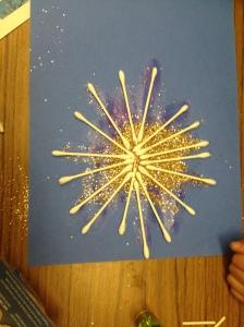 Q-Tip snowflake by Jonas