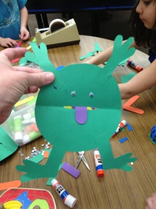 Paper frog by Olivia