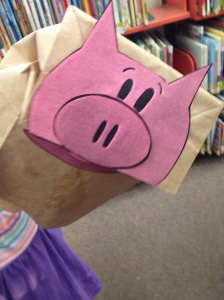 Piggie Paper Bag Puppet by Chloe
