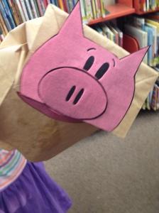 Piggie Paper Bag Puppet by Chloe