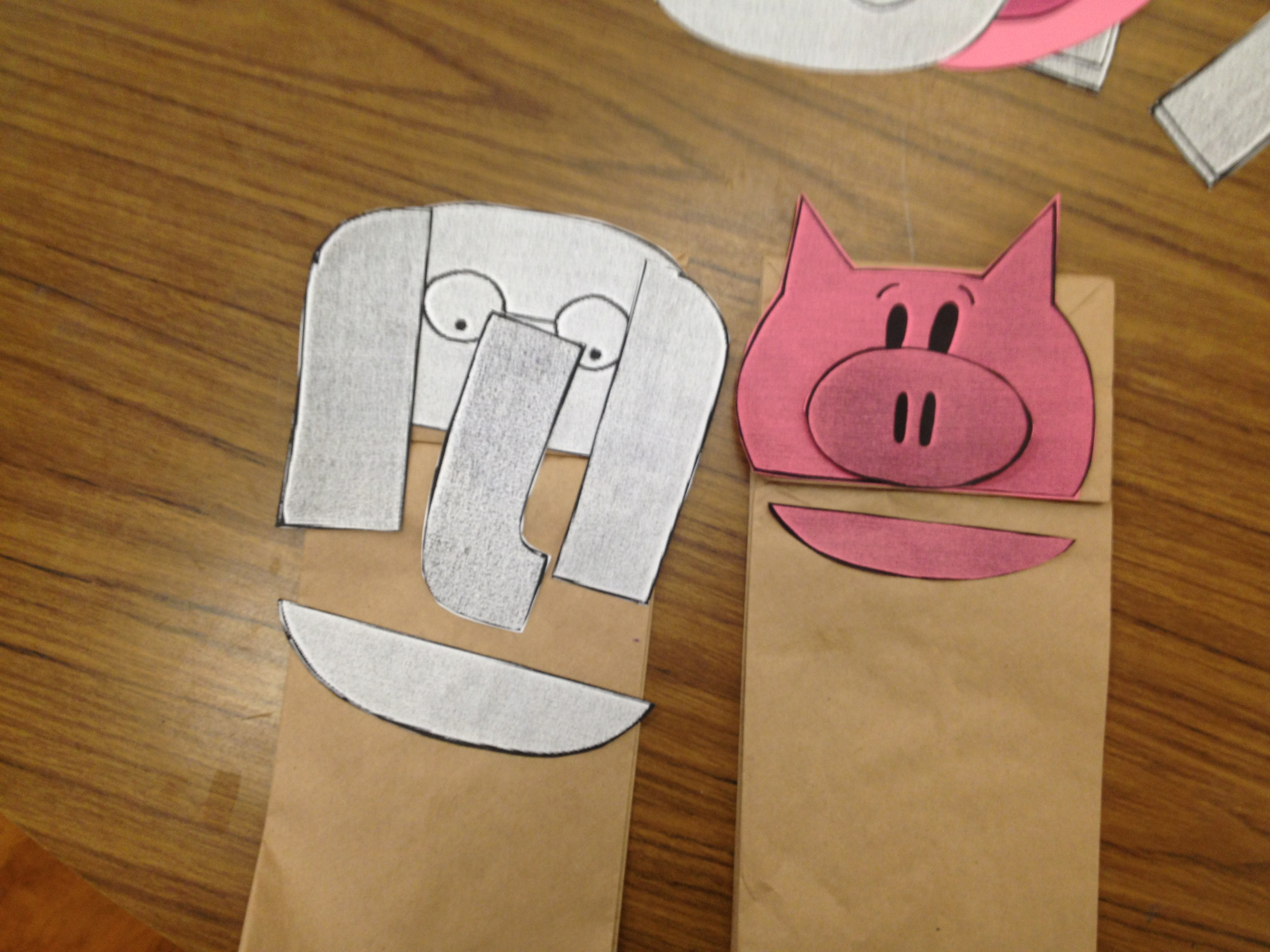elephant and piggie crafts the loudest librarian