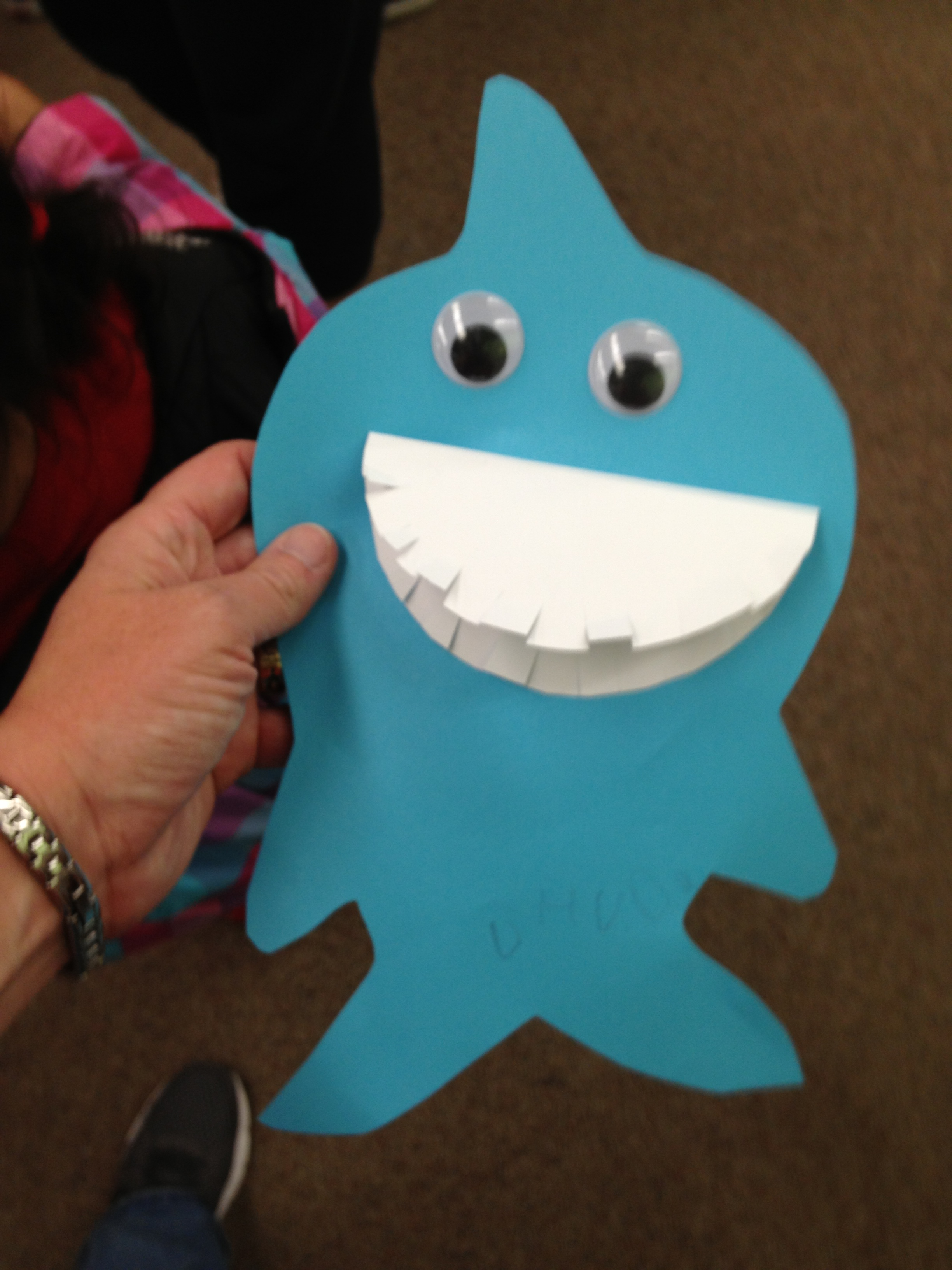 preschool shark crafts the loudest librarian paper shark by stephanie