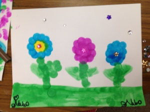 Dot Paint Flowers by Addy