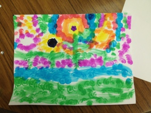 Dot Paint Flowers by Amelia
