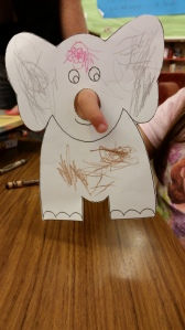 Elephant Finger Puppet by Kiley