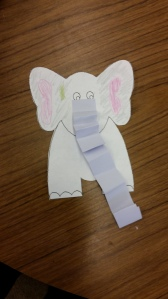 Elephant with paper trunk